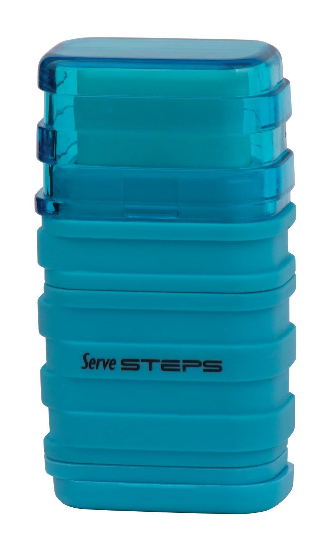 Serve SV Step S9KT Steps Eraser and Sharpner One Body Paper Box, Pack of 9-Fluorescent Colors by Serve (Image #6)
