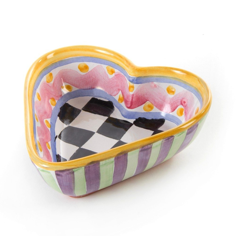 MacKenzie-Childs Piccadilly Heart Bowl - Small