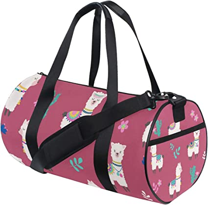 Llama Alpaca Travel Duffel Bag Luggage Sports Gym Bag With Shoes Compartment Large Capacity Lightweight Duffle Bag For Men Women
