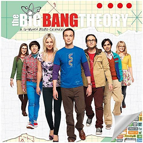 The Big Bang Theory Calendar 2020 Set - Deluxe 2020 The Big Bang Theory Mini Calendar with Over 100 Calendar Stickers (The Big Bang Theory Gifts, Office Supplies) (Big Bang Wall Calendar)