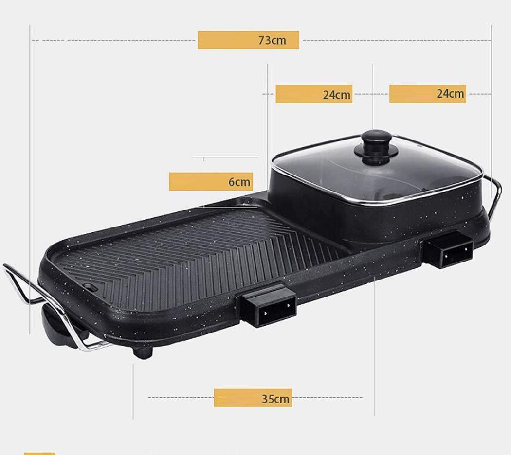 CY&Y Coreano de múltiples Funciones Grande Olla Caliente Barbacoa de una Olla hogar Hornear Pan eléctrica Estufa de Barbacoa sin Humo Antiadherente Cocina ...