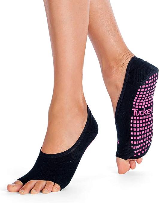Tbest Calze Yoga per Donne Antiscivolo M-Grigio Antiscivolo Yoga Calze Calze Yoga Pilates Yoga Calzini Antiscivolo per Yoga.