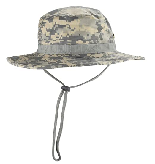 9fa3d14a37989 jffcestore Men s Military Camo Boonie Hat Fishing Sun Hat Snap Wide Brim Bucket  Hat with Adjustable