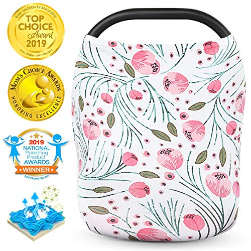 Nursing Cover,Baby Car Seat Covers Carseat Canopy for Babies Breastfeeding Cover,360 5-1 Multi Use Girl Boy Cotton Shopping Cart Nursing Cover,Breathable Soft Car Seat Covers for Baby by VOLUEX