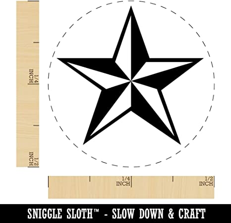 Star Shape Excellent Rubber Stamp for Stamping Crafting Planners 1//2 Inch Mini