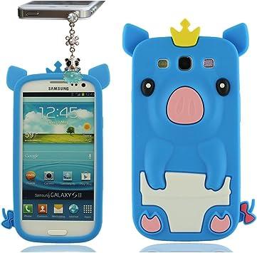 Linda Funda para Samsung Galaxy S3 SIII i9300, Samsung Galaxy S3 Case con Pretty Colgante, Flexible