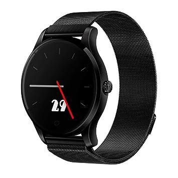 Diadia - Reloj Inteligente Bluetooth con Monitor de frecuencia cardíaca y Pantalla IPS de 1,
