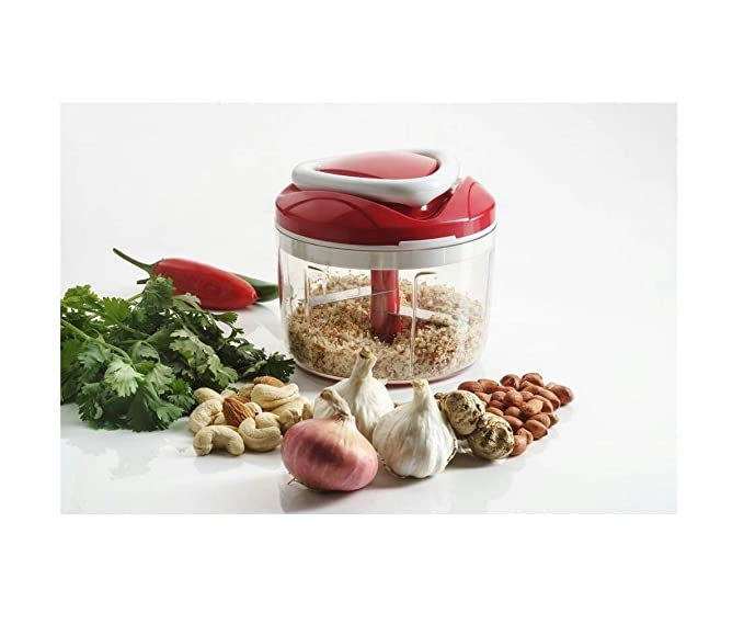 Generic Smart Pull 'N' Chop Plastic Chopper, Red Graters & Slicers at amazon