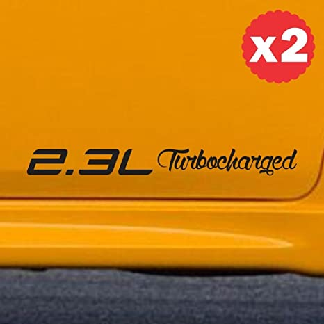 2.3L Turbocharged engine size displacement sticker decal side body hemi coupe 12 inch (width