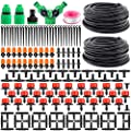 "Garden Automatic Drip Irrigation Set,30m Adjustable Micro DIY Irrigation Kit Plant Water Saving System,1/4"" Heavy Duty Tube Watering Kit for Patio Lawn Garden Greenhouse Flower Bed"