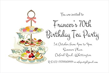 The Save Date People 50 PARTY INVITATIONS Personalised For You Tea Party Birthday Invites