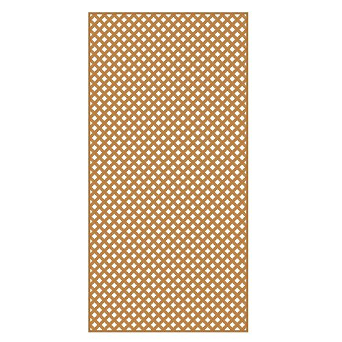0.2 in. x 4 ft. x 8 ft. Sierra Cedar Vinyl Privacy Diamond - Cedar 4x8 Lattice