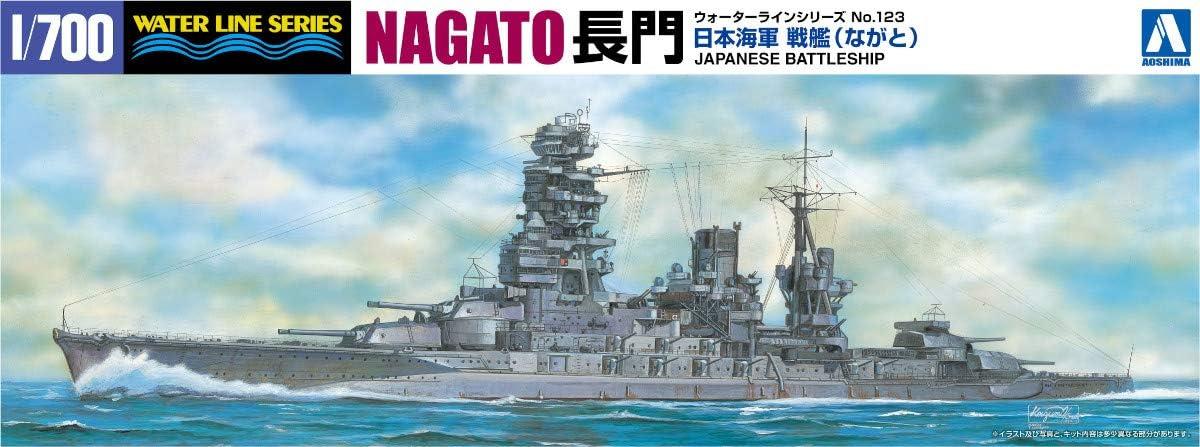 Aoshima 1//700 Water Line No.116 Plastic model IJN Battleship Mutsu