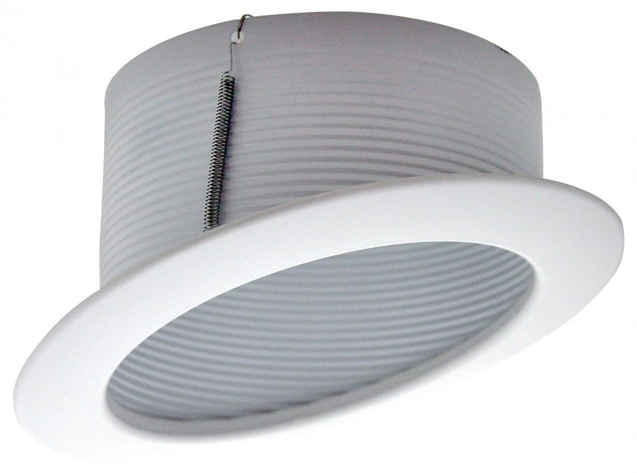 Cost Less Lighting 6'' Inch Sloped Recessed Trim - White Stepped Baffle
