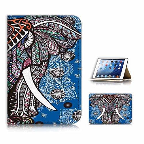 (For iPad Mini 1 2 3, Generation 1/2/3) Flip Case Cover & Screen Protector Bundle - A21526 Elephant Tribal (Ipad Mini 3 Case Tribal)