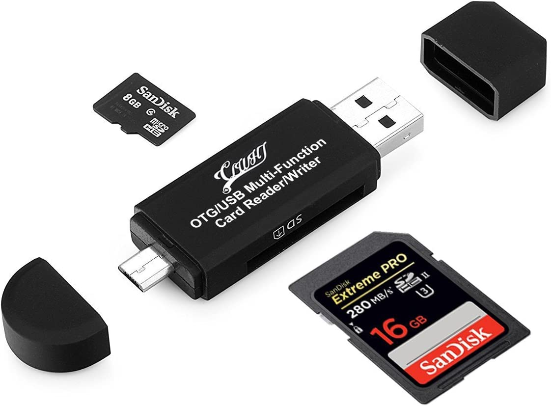 Micro Type-C USB Memory Card Adapter for Laptop liwei18 5 in 1 Card Reader