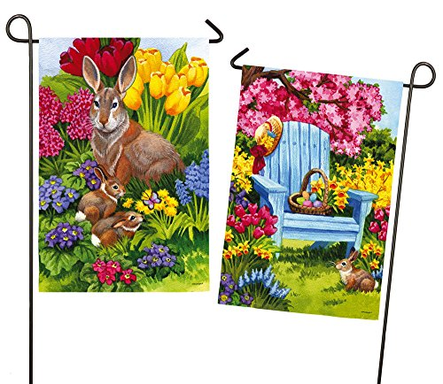 Evergreen Easter Morning Suede Garden Flag, 12.5 x 18 inches