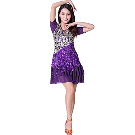 Wanson Mujeres Clásicas Danza Latina Falda Tango Falda Auto ...