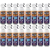Impact Select Air Duster Compressed Canned Air Keyboard Computer Cleaner Dust Off 10 oz Can with Straw (16 Pack)