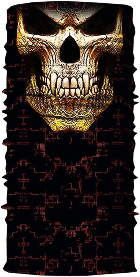 Multifunktionstuch Herren /& Damen nahtloses Schlauchtuch Halstuch Wind Face Shield Kopftuch Stirnband Schal Motorrad Gesicht Mundschutz Lustig Skull Maske Chopper Mund-Tuch Halsschlauch #18