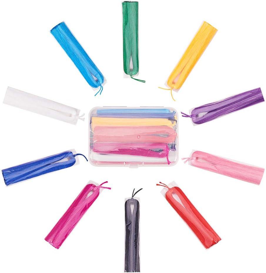 10 Colori Misti NBEADS 85mm 1 Scatola di 20 Nappe in Nylon Forniture Artigianato Decorazione Ciondoli Nappa Gioielli Fai da Te Orecchino Accessori per La Consegna