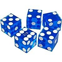 Trademark Poker Set de Dados Grado A para Casino, 19 mm