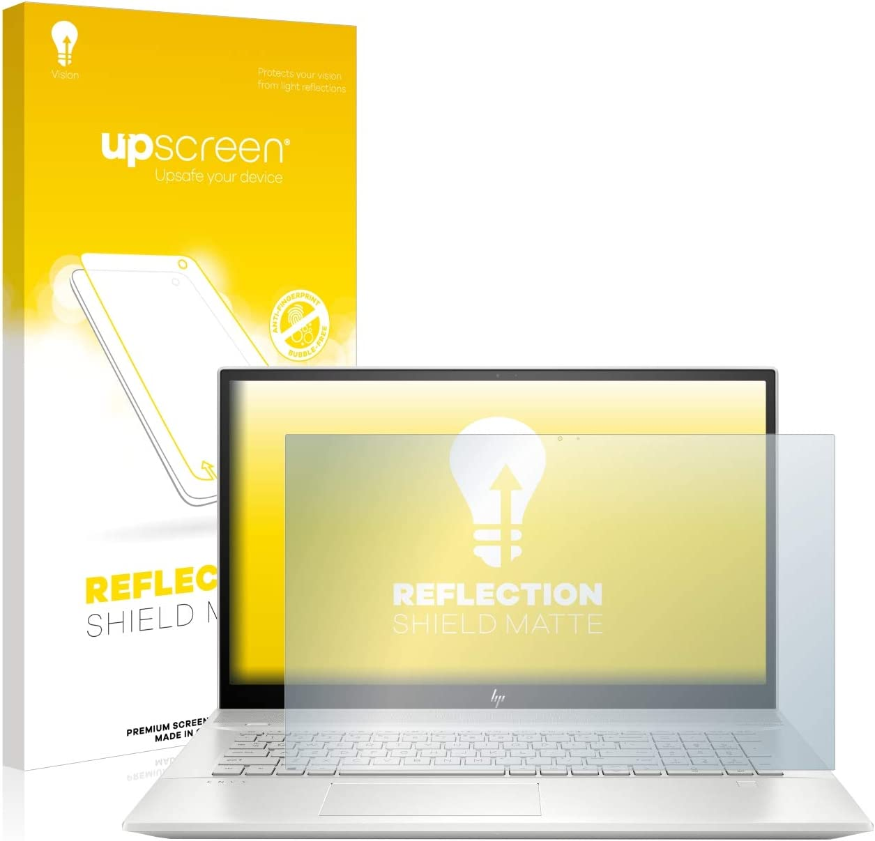 Anti-Reflex Displayschutz-Folie Matt upscreen Entspiegelungs-Schutzfolie kompatibel mit HP Envy 17-ce1611ng