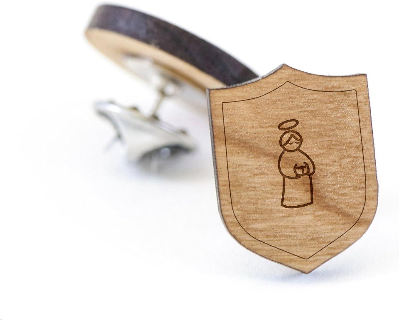 Saints Lapel Pin Wooden Pin