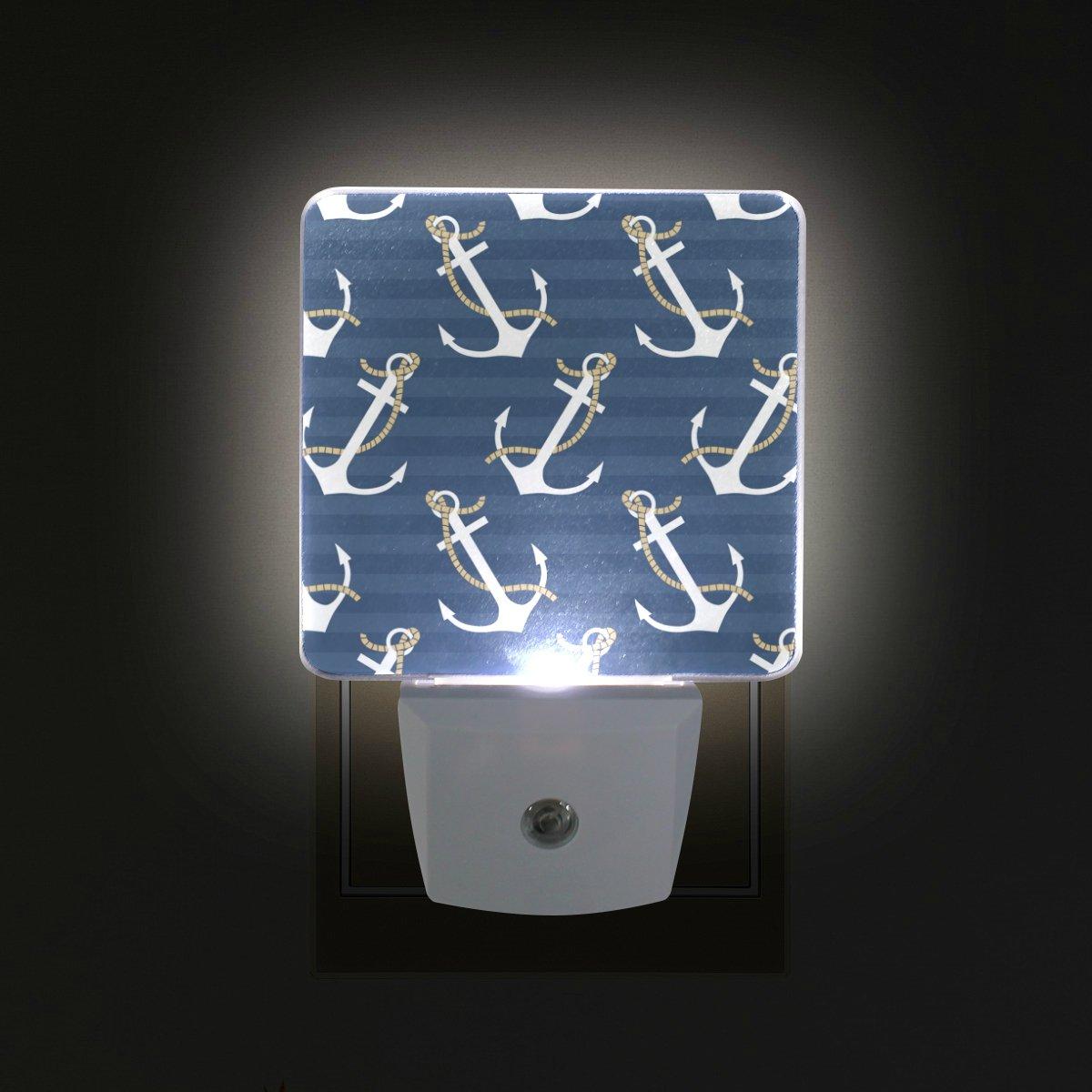 giovaniorマリンアンカープラグin Dusk to DawnライトセンサーLEDナイトライトウォールライトの寝室、バスルーム、廊下、階段、エネルギー効率的な B079LWMLXB 15675