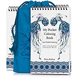 Adult Coloring Books: My Pocket Coloring Book - Coloring-On-The-Go - Sea World Coloring