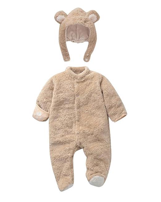 Traje De Nieve Bebé Ropa De Invierno Peleles Mameluco Con Capucha Cálido Monos Para Niños Niñas: Amazon.es: Ropa y accesorios
