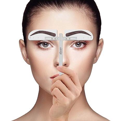 ELEVEN EVER Eyebrow Stencil Ruler Kit - Plantilla de cejas estilo europeo permanente herramientas de maquillaje