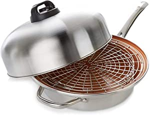 Turbo Cooker SteamCooking All-In-One Skillet 4-piece - Stainless Steel