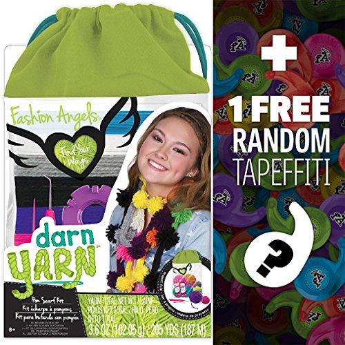 Darn Yarn Pom-Pom Scarf Kit: Fashion Angels Find Your Wings Series + 1 FREE Mini-Tapeffiti Bundle [118653] - Juicy Scarf