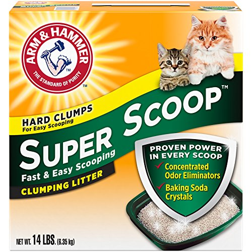 Arm & Hammer Super Scoop Litter, Fresh Scent, 14 Lbs (Packaging May Vary) - 14k Kitty