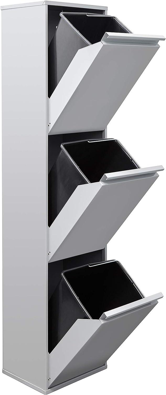 Arregui Basic CR302-B Cubo de Basura y Reciclaje de 3 Compartimentos, Gris Claro, 133,5 x 30,5 x 24,5 cm: Amazon.es: Bricolaje y herramientas