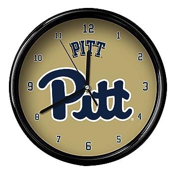 NCAA Universidad de Pittsburgh oficial negro borde Basic reloj, multicolor, talla única: Amazon.es: Deportes y aire libre