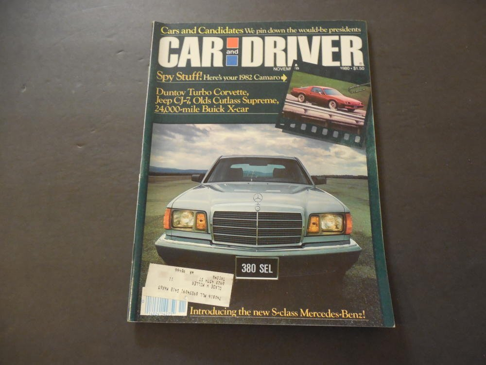Car Driver Nov 1980 Camaro; Duntov Turbo Corvette; Buick X-Car at Amazons Entertainment Collectibles Store