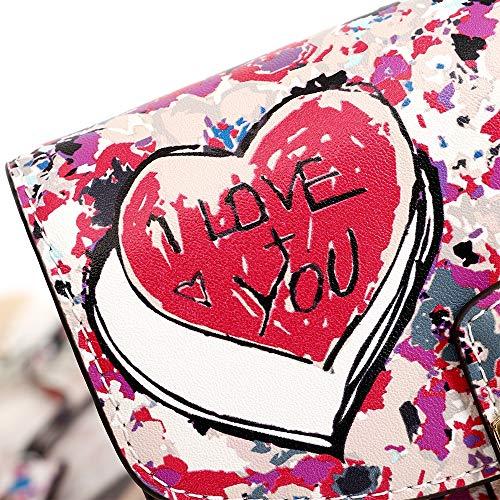 Jessiekervin Mano Tracolla Stampa Borse Per Pelle A Da Stampate Yy3 Con color Fruit In Donna Love x88nf0