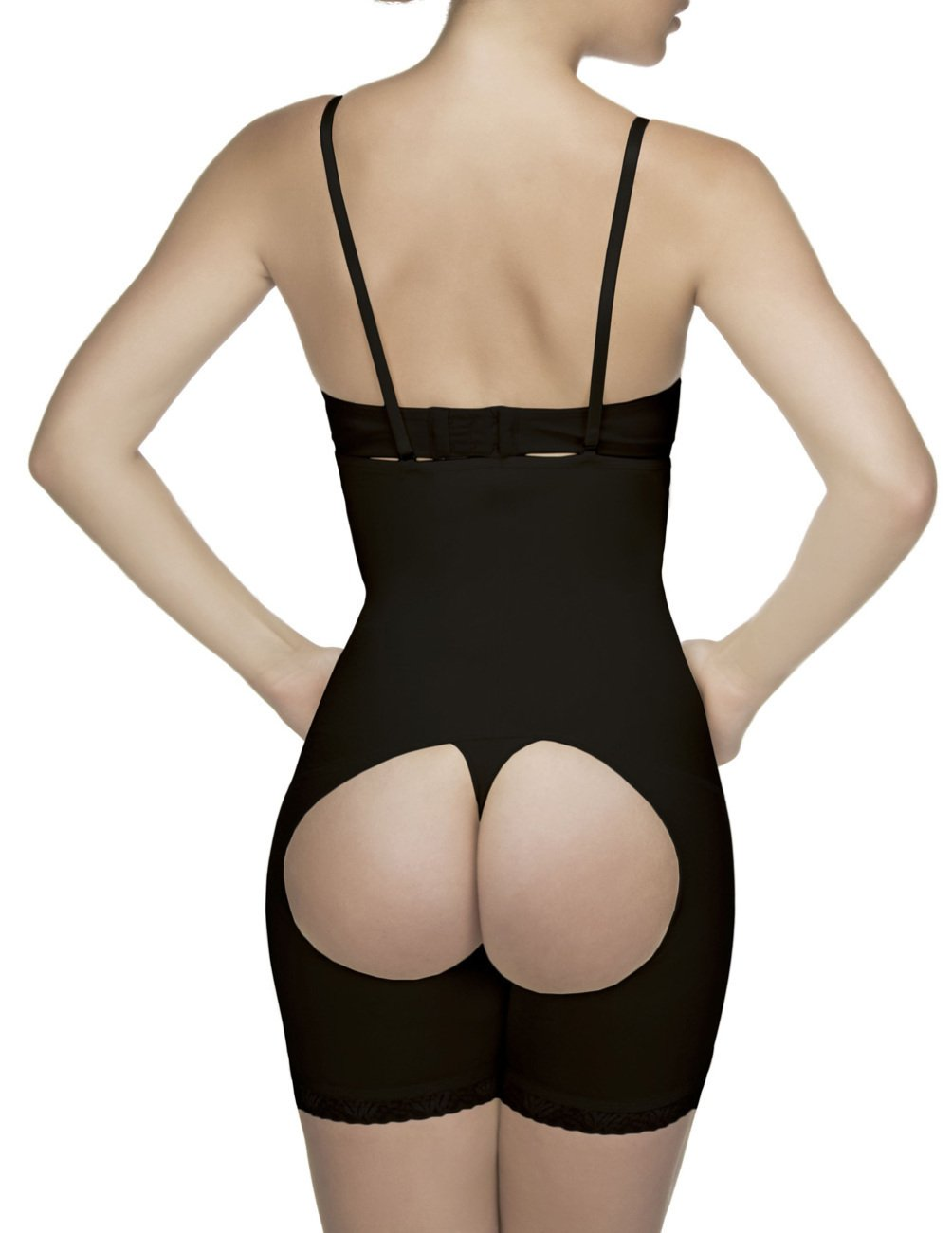 69a1ee714e Amazon.com  Vedette Shapewear 504 Isabelle Strapless Mid Thigh Body w  Buttock  Enhancer Nude Medium  Health   Personal Care