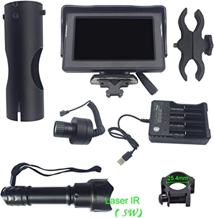 """DIY Rifle Scope Device Day/&Night Dual-use Night Vision 4.3/"""" LCD IR Torch SALE"""
