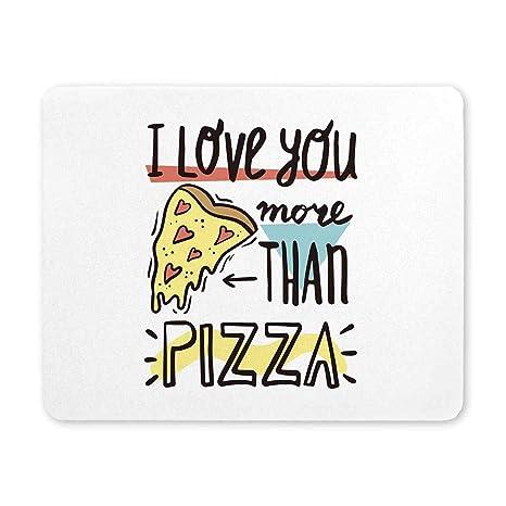Amazon.com : InterestPrint I Love You More Than Pizza Funny ...