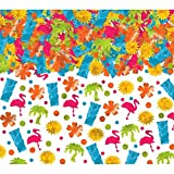 Amscan Colorful Tiki Party Confetti Decoration Mega Value Pack, 1 Pieces, Made from Foil, Multicolor, 2 1/2 oz. by