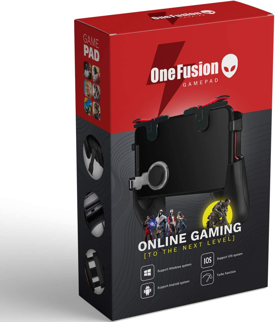 Mobile Game Controller PUBG Gamepad triggers Joystick, Highly Sensitive Shoot & Aim Buttons for Online Gaming, Gamer Assistant (iOS & Android) by OneFusion