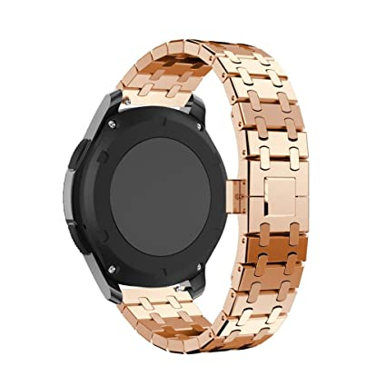 For Samsung Gear S3 Frontier reloj,Ouneed ® De alta calidad genuina de acero inoxidable