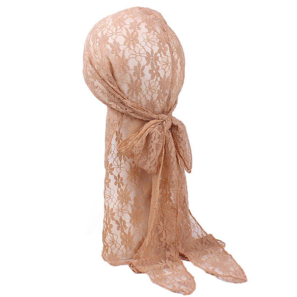 Fine Hat Chiffon Long Scarf Muslim Hijab Arab Wrap Shawl Headwear Party Hat (Free Size, Khaki)