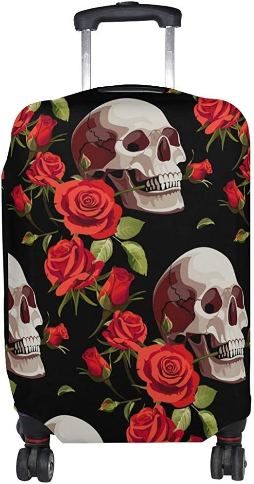 Housse Vintage Happy Halloween Skull Roses Valise Couverture Protecteur Taille M