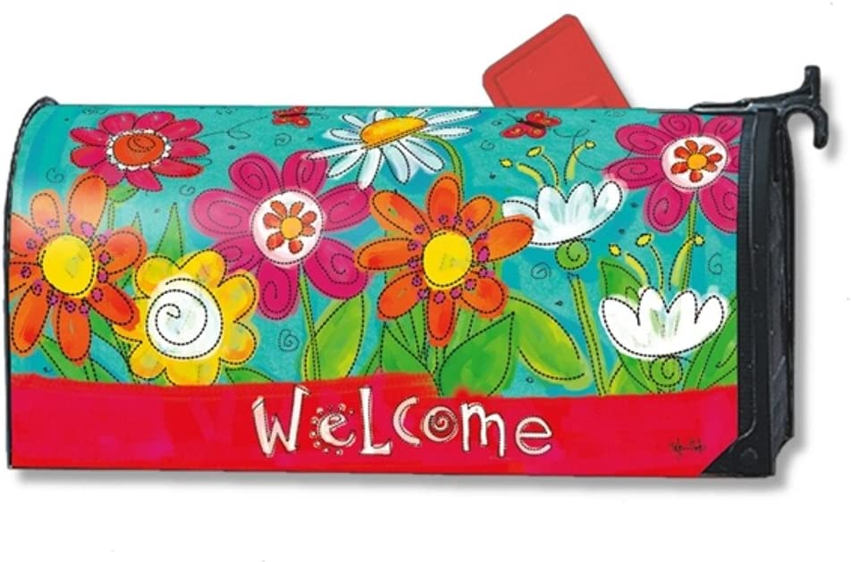 MailWraps Welcome Blooms Mailbox Cover