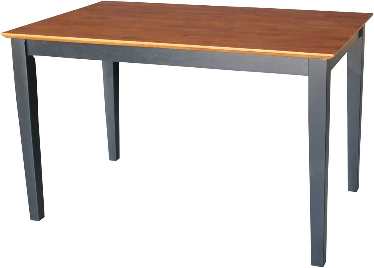 International Concepts Solid Wood Dining Table with Shaker Legs, 48 by 30 by 30-Inch, Black Cherry