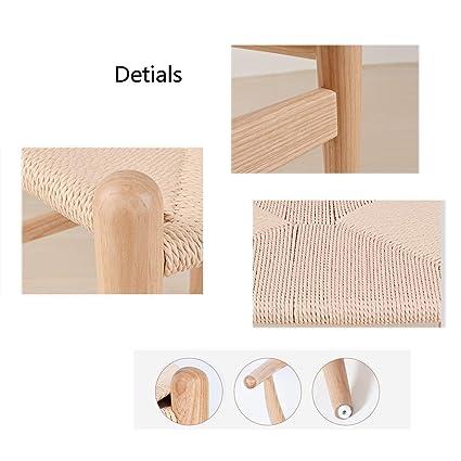 Amazon.com: LRZS-Furniture Silla nórdica simple de madera ...